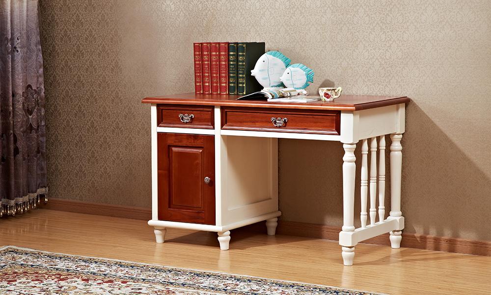 电脑桌学习书桌写字台_思可达家具_小美式家具_思可达图片