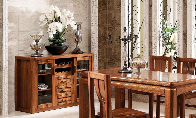 餐边柜欧式茶水柜带门碗柜_思可达家具_小美式家具图片